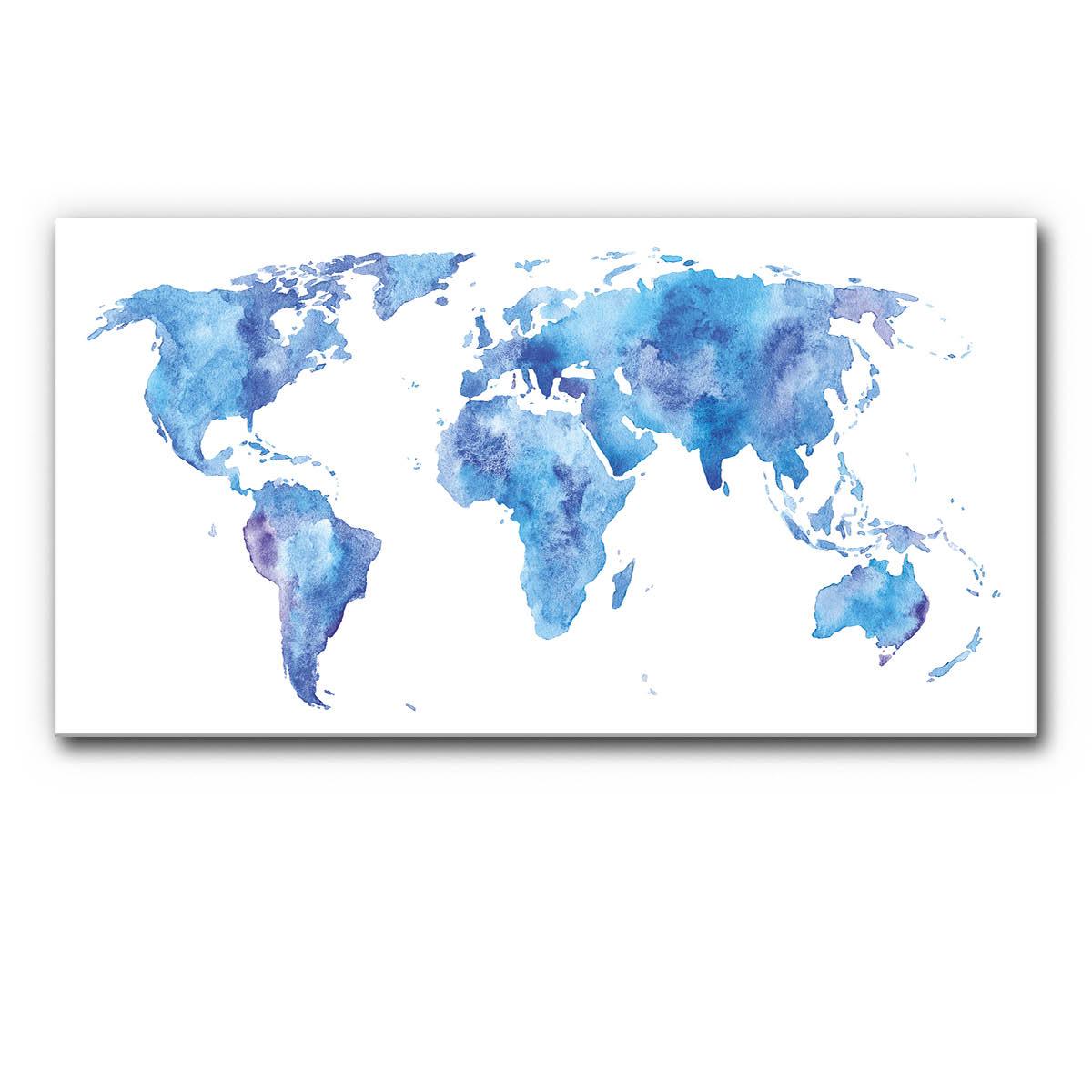 Schallschutzbild (Akustikbild) mit Weltkarte Malerei